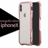 Бампер Luphie Ultra Luxury Rose Gold/Silver for iPhone X/Xs