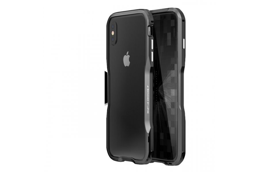 Бампер Luphie Ultra Luxury Grey for iPhone X/Xs