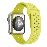 Ремешок Silicone with Flat Yellow for Apple Watch 38/42mm