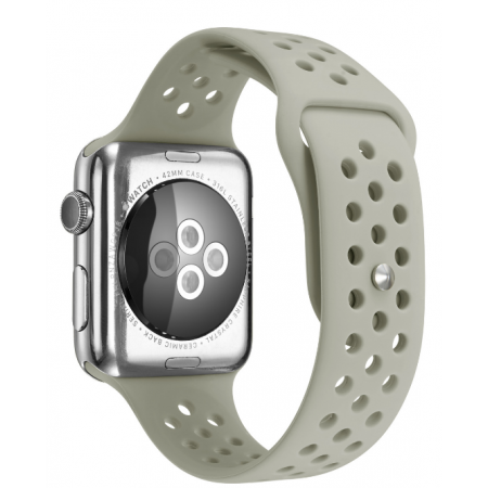 Фото - Ремешок Silicone with Flat Gray for Apple Watch 38/42mm