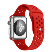 Ремешок Silicone with Flat Red for Apple Watch 38/42mm