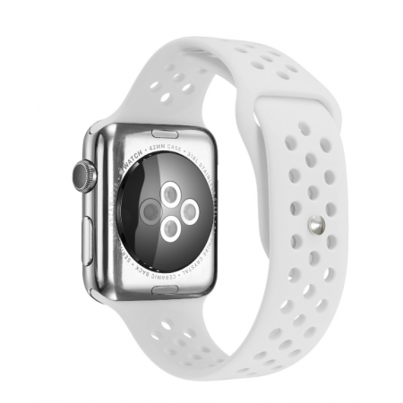 Фото - Ремешок Silicone with Flat White for Apple Watch 38/42mm