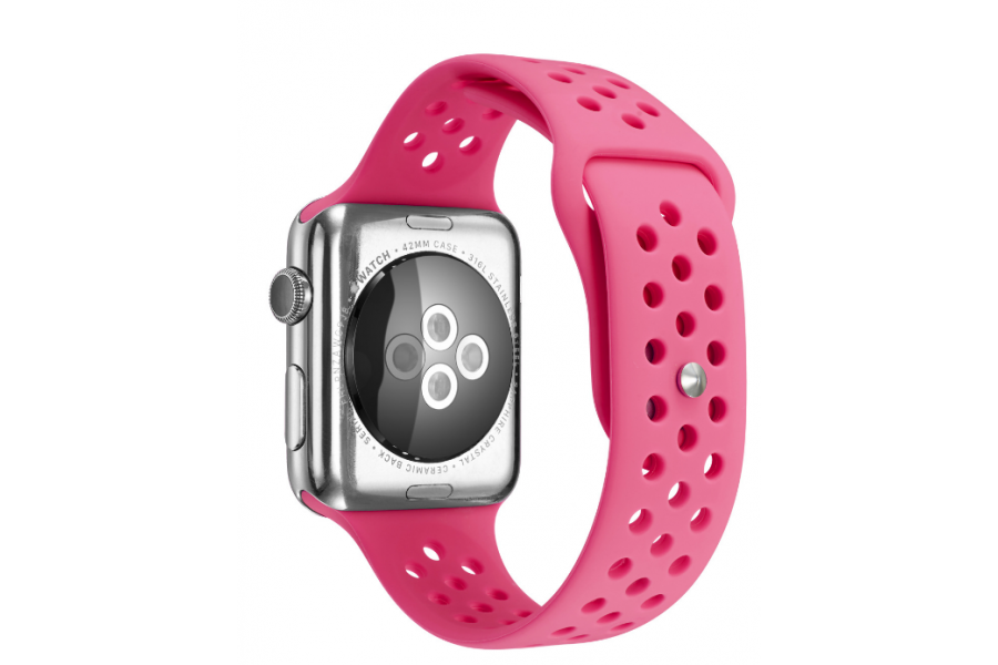 Ремешок Silicone with Flat Pink for Apple Watch 38/42mm
