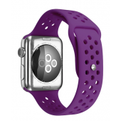 Ремешок Silicone with Flat Purple for Apple Watch 38/42mm