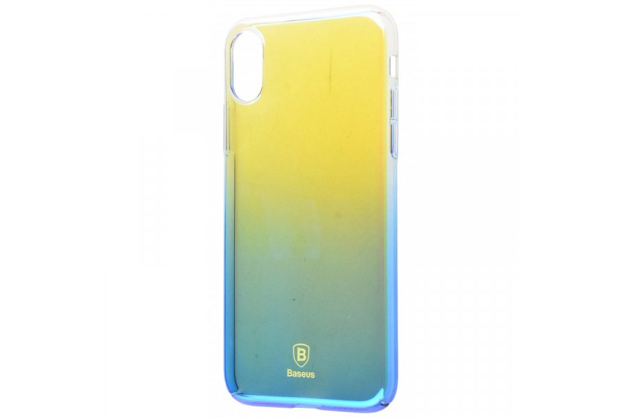 Силиконовый чехол BASEUS GRADIENT COLORS (PC) IPHONE X/Xs Blue