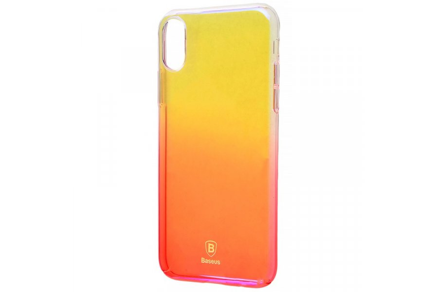 Силиконовый чехол BASEUS GRADIENT COLORS (PC) IPHONE X/Xs Pink