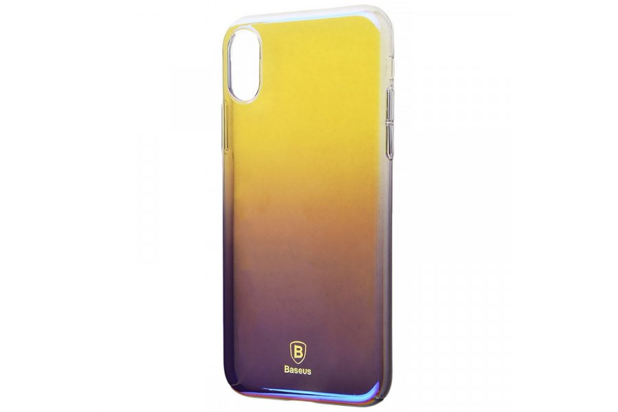 Силиконовый чехол BASEUS GRADIENT COLORS (PC) IPHONE X/Xs Purple