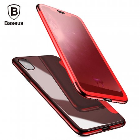 Фото - Чехол Baseus Touchable Flip Cover Case For iPhone X/10 Red
