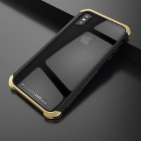 Чехол Element Case Template Glass For iPhone X/Xs Black-Gold