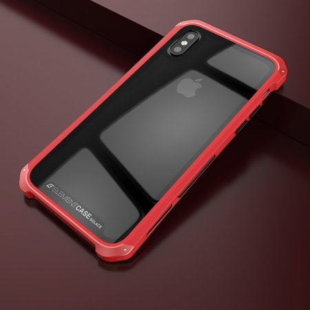 Фото - Чехол Element Case Template Glass For iPhone X/10 Red