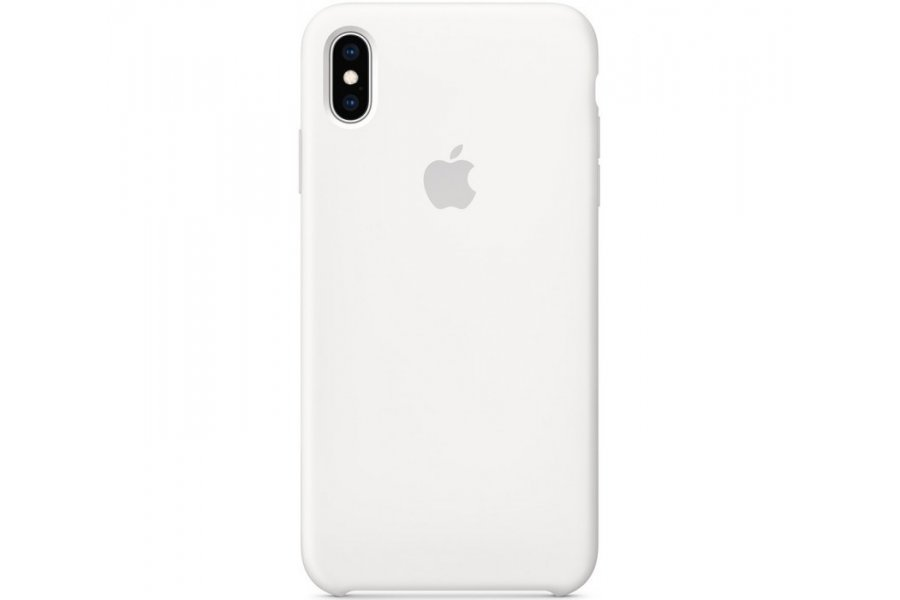 Чехол Apple Silicone Case for iPhone Xs Max - White
