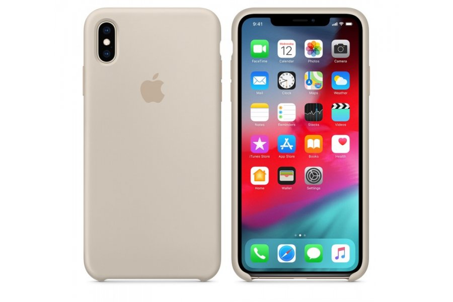 Чехол Apple Silicone Case for iPhone Xs Max - Stone