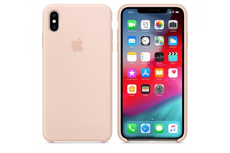 Чехол Apple Silicone Case for iPhone Xs Max - Pink Sand