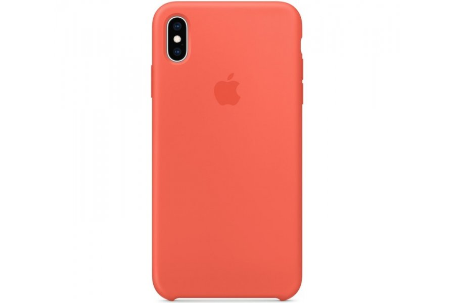 Чехол Apple Silicone Case for iPhone Xs Max Nectarine