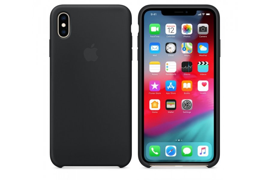 Чехол Apple Silicone Case for iPhone Xs Max - Black