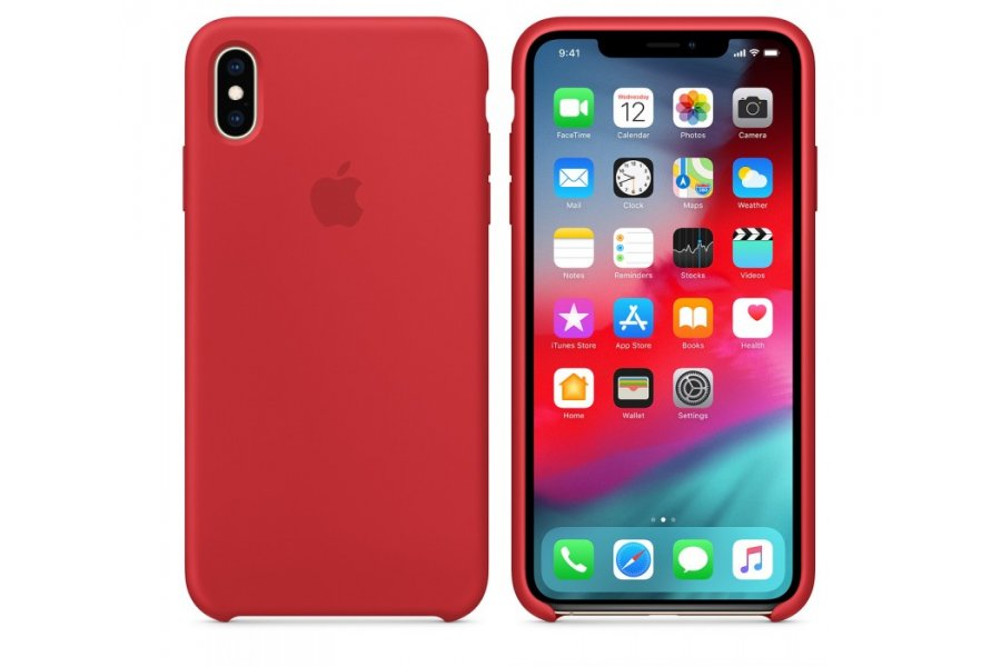 Чехол Apple Silicone Case for iPhone Xs Max - (PRODUCT) RED