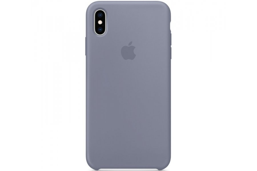 Чехол Apple Silicone Case for iPhone Xs Max - Lavender Gray