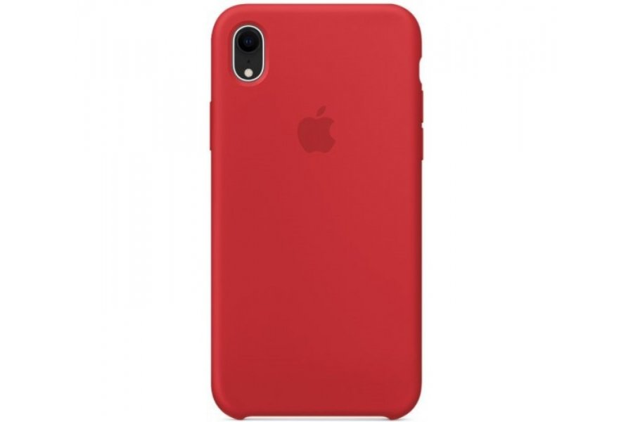 Силиконовый чехол Apple iPhone Xr Silicone Case OEM Red