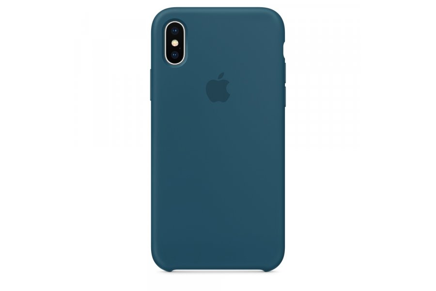 Силиконовый чехол Apple Silicone Case Blue Cobalt для iPhone X/XS