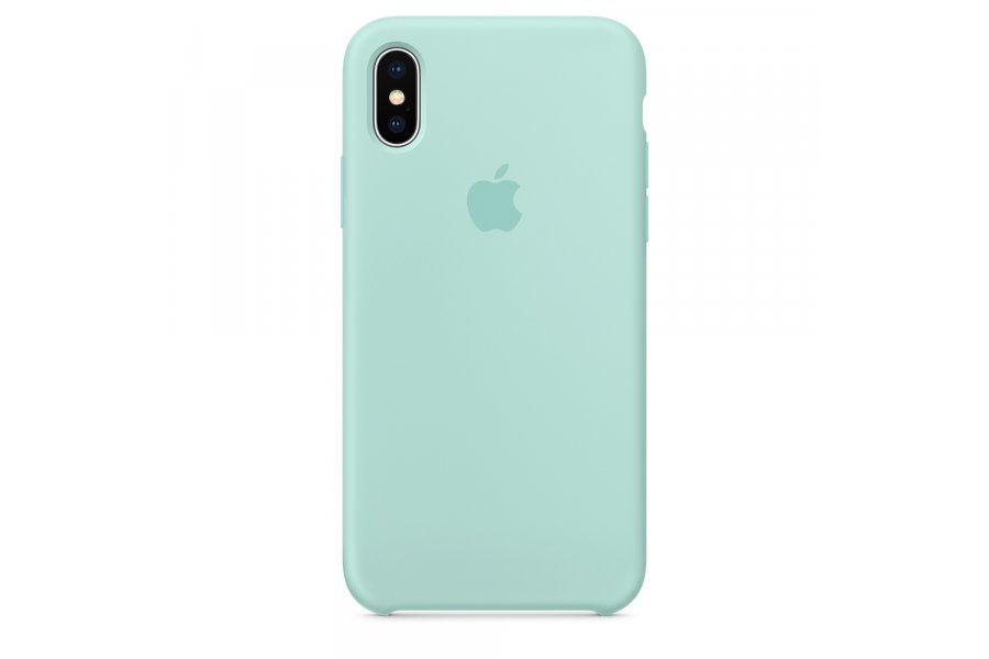 Силиконовый чехол Apple Silicone Case Marine Green для iPhone X/XS