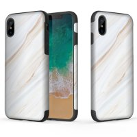 Чехол-накладка Rock Wood+TPU+PET Origin Series Case Apple iPhone X/Xs - White