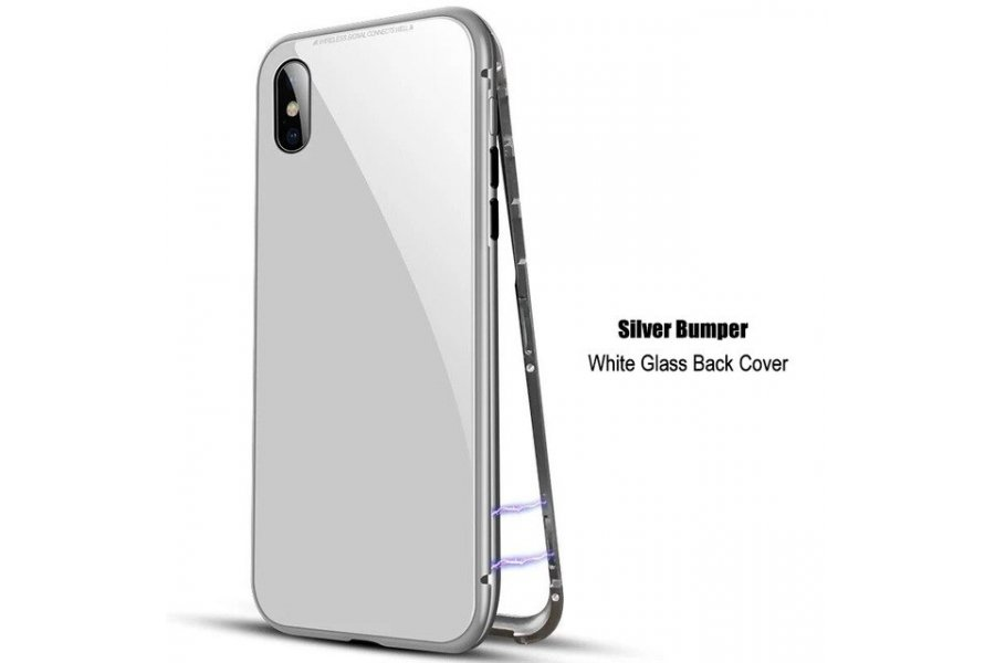 Magnetic Metal Bumper White для iPhone X/Xs
