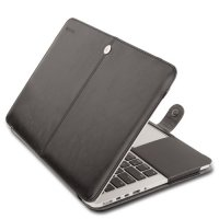 Чехол Mosiso PU Leather Book Case для MacBook Pro 13 - Black