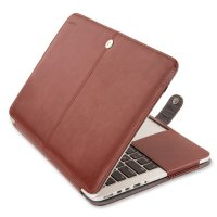 Чехол Mosiso PU Leather Book Case для MacBook Pro 13 - Brown