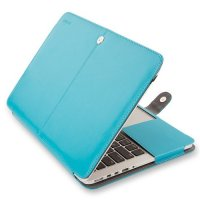 Чехол Mosiso PU Leather Book Case для MacBook Pro 13 - Blue