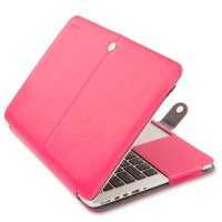 Чехол Mosiso PU Leather Book Case для MacBook Pro 13 - Pink