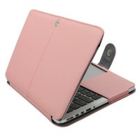 Чехол Mosiso PU Leather Book Case для MacBook Pro 13 - Rose