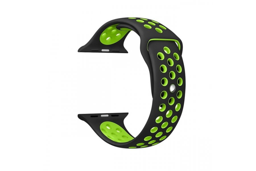 Ремешок Silicone with Black/Volt Nike for Apple Watch 38/40/42/44mm