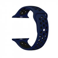 Ремешок Silicone with Dark Blue Nike for Apple Watch 38/40/42/44mm