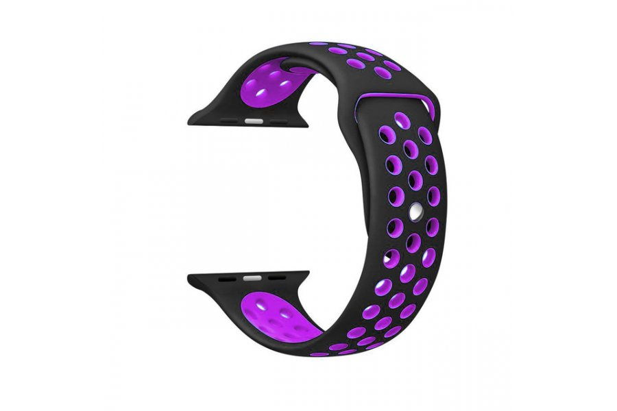 Ремешок Silicone with Black/Purple Nike for Apple Watch 38/40/42/44mm