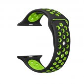 Ремешок Silicone with Black/Green Nike for Apple Watch 38/40/42/44mm