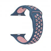 Ремешок Silicone with Blue/Pink Nike for Apple Watch 38/40/42/44mm