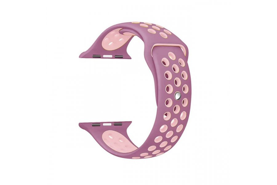 Ремешок Silicone with Purple/Pink Nike for Apple Watch 38/40/42/44mm