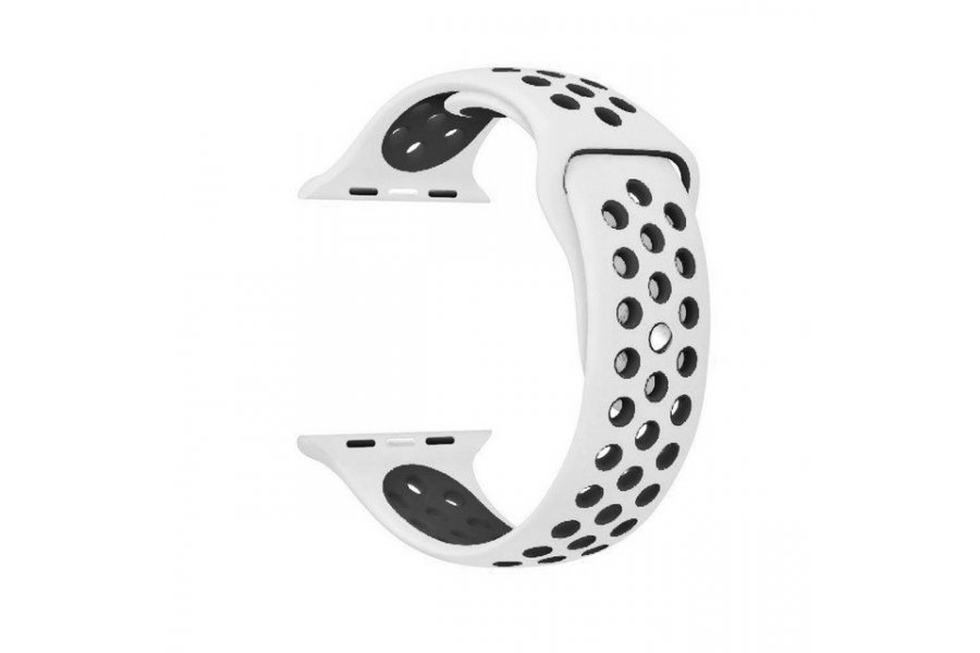 Ремешок Silicone with White/Black Nike for Apple Watch 38/40/42/44mm