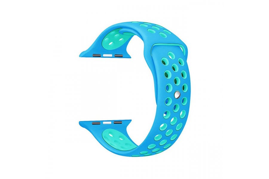 Ремешок Silicone with Light Blue Nike for Apple Watch 38/40/42/44mm