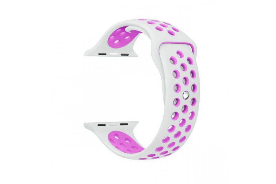 Ремешок Silicone with White/Purple Nike for Apple Watch 38/40/42/44mm