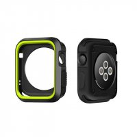 Чехол Silicone Nike for Apple Watch 40/44mm Black/Green