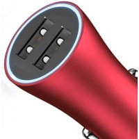 Авто зарядка Baseus Golden Contactor Dual U Intelligent Car Charger Red