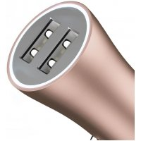 Baseus Golden Contactor Dual U Intelligent Car Charger Coffee