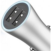 Baseus Golden Contactor Dual U Intelligent Car Charger Silver