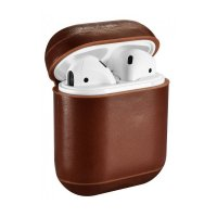 Кожаный чехол для AirPods Vintage Leather Case - Brown