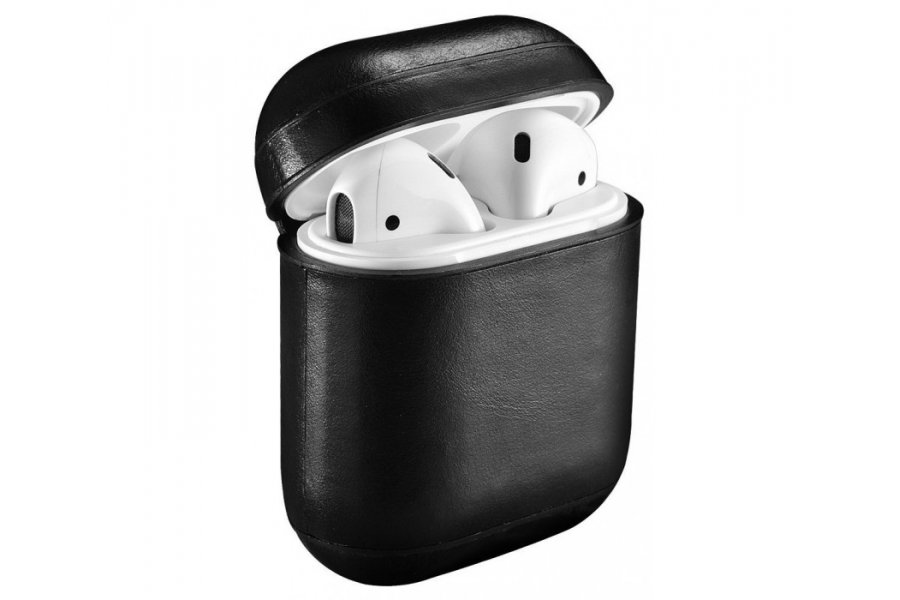 Кожаный чехол для AirPods Vintage Leather Case - Black
