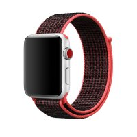 Ремешок для Apple Watch 38/40/42/44mm Sport Loop Nike Crimson Black
