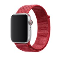 Ремешок для Apple Watch 38/40/42/44mm Sport Loop Red