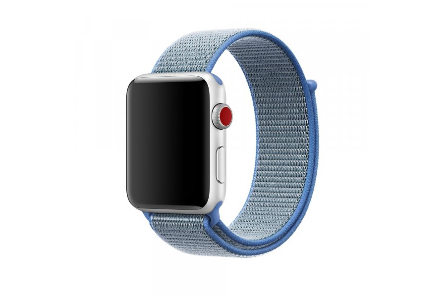 Ремешок для Apple Watch 38/40/42/44mm Sport Loop Tahoe Blue