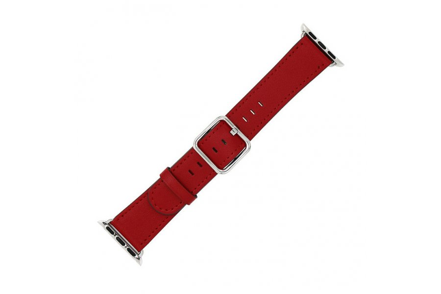 Ремешок для Apple Watch 38/40/42/44mm Classic Buckle Red